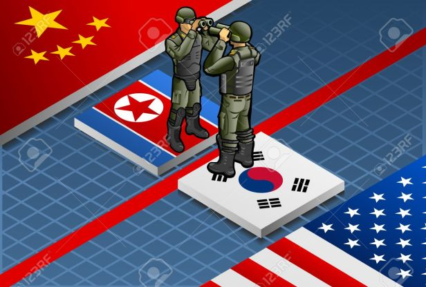 18903804-Detailed-illustration-of-a-isometric-concept-of-Korean-crisis-escalation-Stock-Vector.jpg