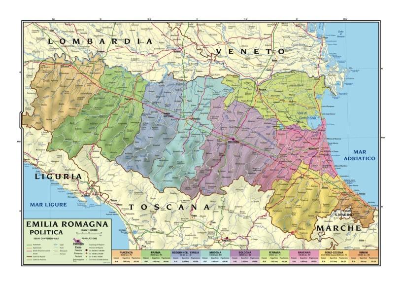 Cartina Geografica Lombardia E Emilia Romagna.Emilia Romagna E Necessaria Un Alternativa Unitaria Da